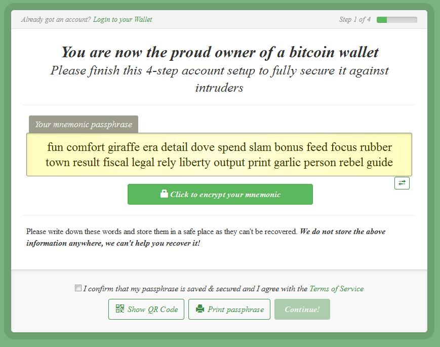 Bitcoin wallet passphrase recover : FOREX Trading